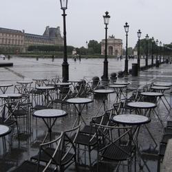 Parijs in de regen