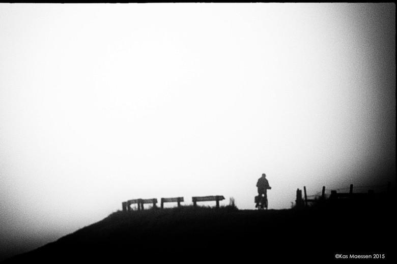 eenzame fietser - onderweg