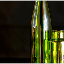 stilleven groen glas