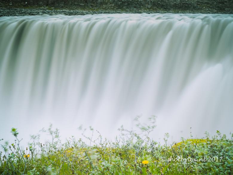 Dettifoss - Detail van de Dettifoss, een van de meest indrukwekkende watervallen van IJsland.