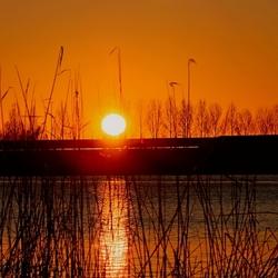 Zonsondergang Abcoudermeer