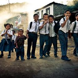 Schoolkinderen Nepal