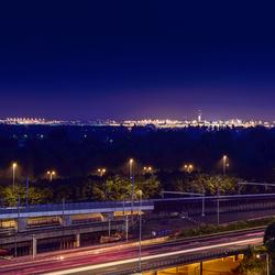 Schiphol bij nacht