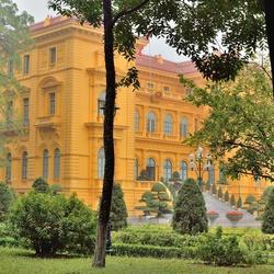 Presidentieel paleis in Hanoi.