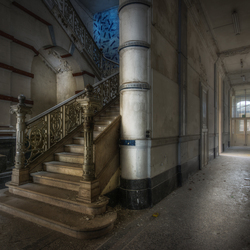 Stairs in an old university