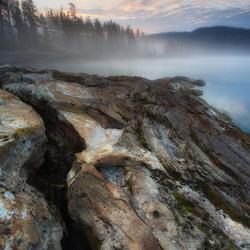 Sunrise and mist over sedgebay