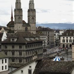 Straatzicht in Zwitserland