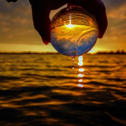 Sunset with my lensball