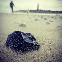 steen op het strand