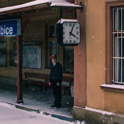 Tijdens mijn treinreis van Praag naar Munchen kwamen we langs dit Tsjechisch stationnetje