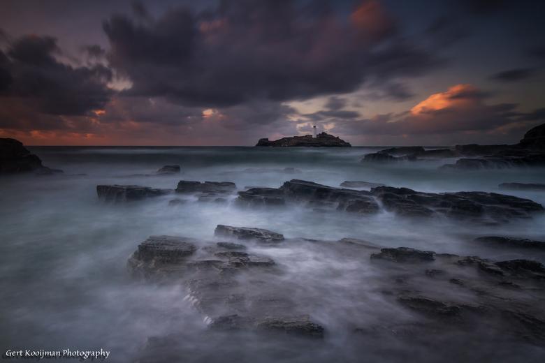 Godrevy Lighthouse  - Godrevy Lighthouse is gelegen op het Eiland Godrevy in de Atlantische Oceaan in de baai van St. Ives in Cornwall UK. Prachtig zo