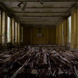 Verlaten gymzaal