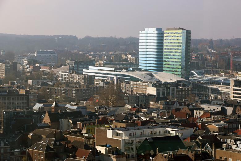 Arnhem Centraal - Afgelopen donderdag met de lift omhoog geweest in de Eusebiuskerk in Arnhem. Van daar uit heb je een prachtig uitzicht over Arnhem e