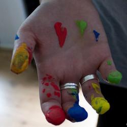 Gekleurde vingers