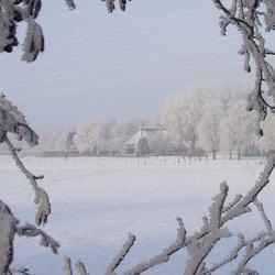 omlijst winterlandschap