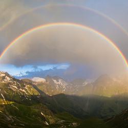 Regenboog Grossglockner Oostenrijk