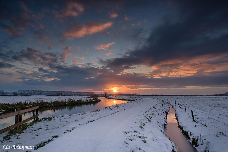 Sunrise in de winter