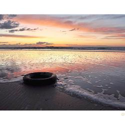 wheel on the beach