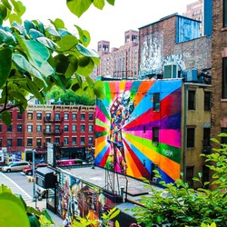 High line urban art