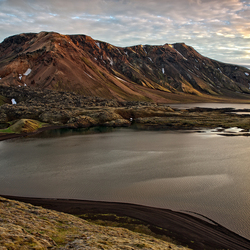 Sunset over Landmannalaugar Iceland