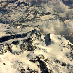 Luchtfoto Alpen