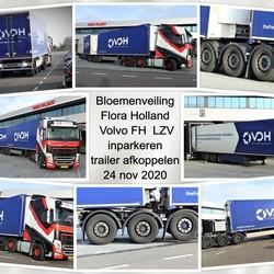 collage bl veiling Flora Volvo FH LZV inparkeren en afkoppelen  24 nov 2020
