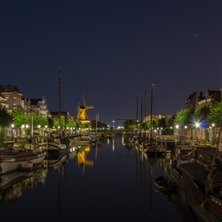 Delfshaven by night