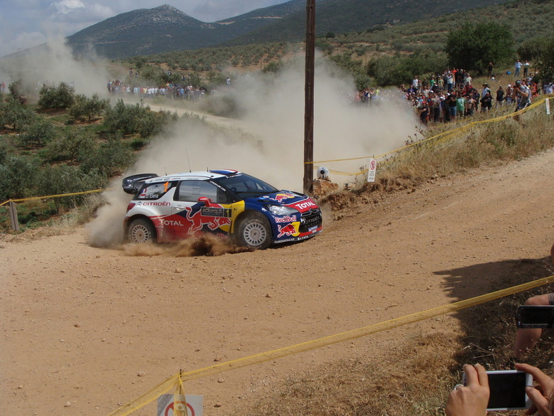 Loeb cutting Corners - Onze vakantie zodanig gepland dat we weer een WRC Rally konden zien. Dit jaar, Acropolis Rally of Gods in Griekenland!<br /> h