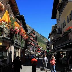 hoofdstraat Zermatt