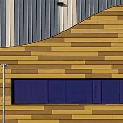 Gebogen facade