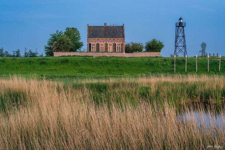 Lichtwachtershuis - Lichtwachtershuis nog voor zonsopkomst - Werelderfgoed Schokland