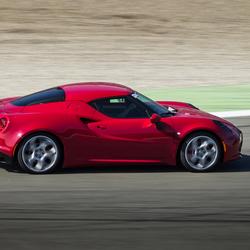 Alfa Romeo 4C on racetrack