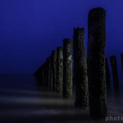 Endless row of poles
