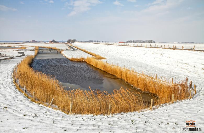 Sneeuw op Texel.