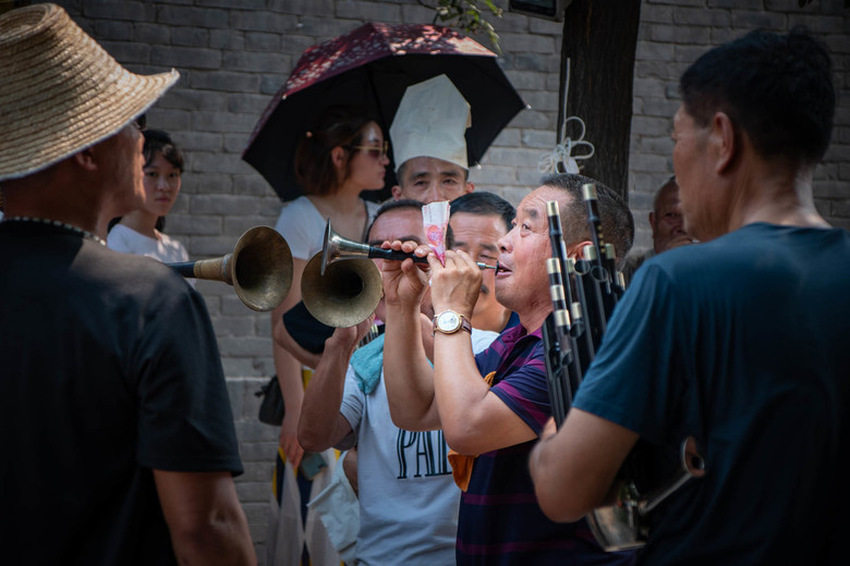 Straatmuzikanten in Pingyao, China - Straatmuzikanten in Pingyao, China, zomer 2019