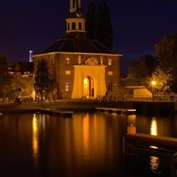 zijlpoort Leiden in de avond uren