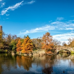Panorama Central Park met Gapstow Bridge