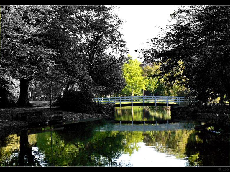 Coloured Bridge - Een dagje aan het plaatjes schieten geweest in het Wilhelminapark te Meppel.<br /> <br /> Na wat klooien met photoshop kwam ik op