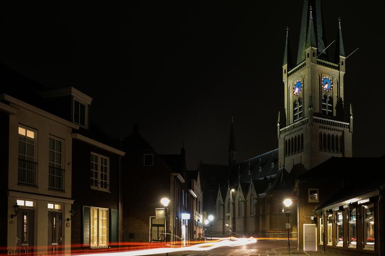 Druten - Kerk Druten in de avond