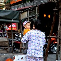 Het leven in hanoi, Vietnam.