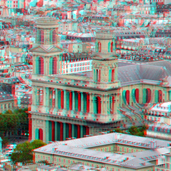 View from Tour Montparnasse Paris 3D
