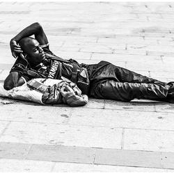 In de straten van Parijs