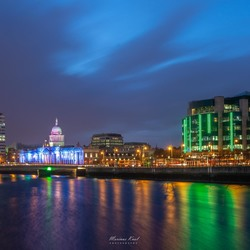 The Custom House at the Liffey river, Dublin