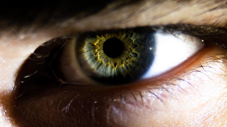 Mad eye - Een oog heeft zoveel meer detail dat niet direct zichtbaar is!<br /> <br /> Ik maakte deze foto van mijn eigen oog met behulp van de live