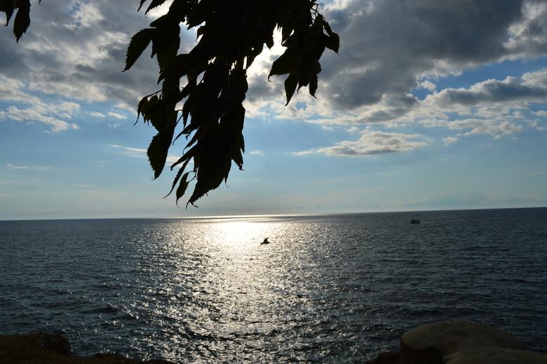 uitzicht over zee - Mooie uitzicht over zee op onze vakantie in Kroatië