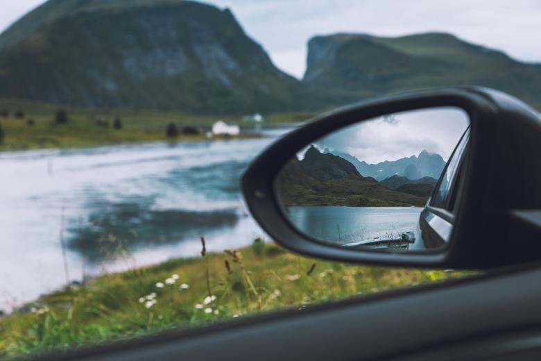 Lofoten in de spiegel -
