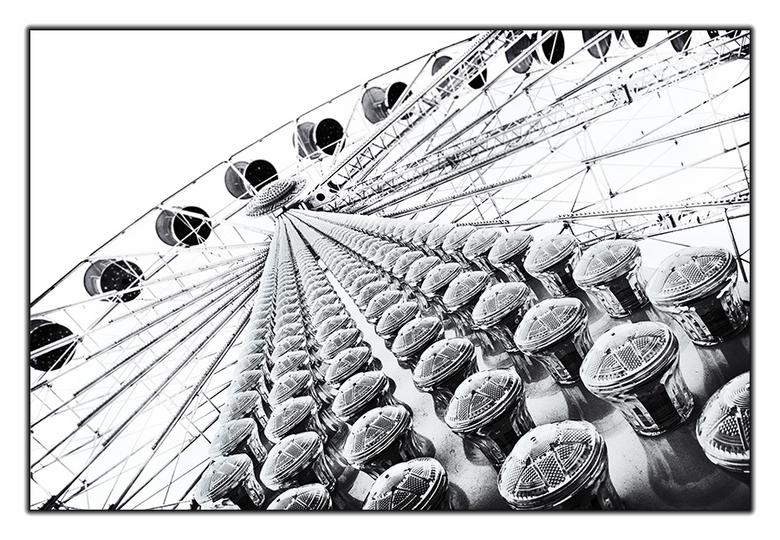 Reuzenrad - Spelen met de compositie, net zo lang tot je een pakkend beeld krijgt.