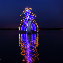 lightpainting in het blauw