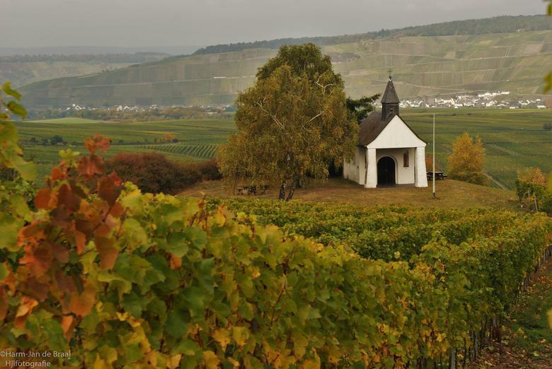 de kapel op de heuvel.... - tussen de druiventrossen aan de Moezel, staat een klein kapelletje. met een prachtig uitzicht op de bergen en het wijde la