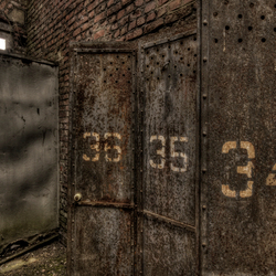 numbered lockers